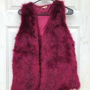 Magenta fur vest